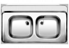 BLANCO Auflage-Spüle Doppelbecken ZS 100x60 cm Edelstahl