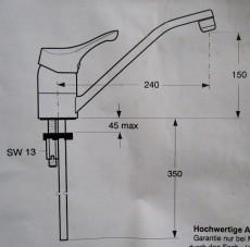 IDEAL STANDARD Ceramix Küchenarmatur Spültischarmatur Chrom
