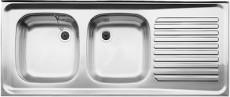 BLANCO Auflage-Spüle Doppelbecken ZS 120x50 cm Edelstahl B-L