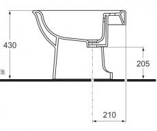 IDEAL STANDARD Esprit Stand-Bidet MANHATTANGRAU