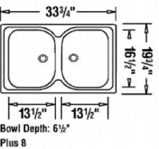 BLANCO Plus Doppelbecken Spüle Einbauspüle Küchenspüle Edelstahl 86 x 50 cm