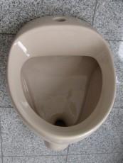NOVOBOCH Urinal Pissoir Zulauf von oben Bahamabeige