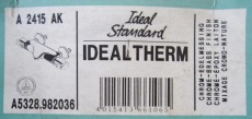 IDEAL STANDARD Thermostat Duscharmatur Ceratop CHROM EDELMESSING