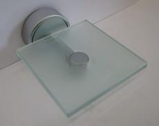 Ideal Standard wandhängende Glas-Schale Ablage Chrom Kristallglas