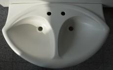 IDEAL STANDARD Esprit Doppelwaschbecken Doppelwaschtisch Waschbecken EDELWEISS 93,5 x 56 cm