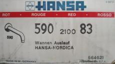 HANSA Hansa-Nordica Wanneneinlauf Standeinlauf Wannenauslauf Rot