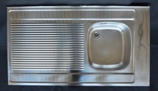 FRANKE Auflagespüle 110 x 60 cm Becken-Rechts Edelstahl