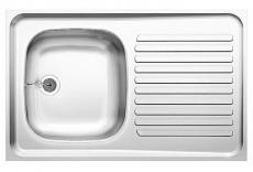 BLANCO Auflage-Spüle ES 80x50 cm Edelstahl Reversibel Küchenspüle Einbauspüle
