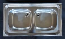 FRANKE Auflage-Spüle Doppelbecken 90 x 50 cm Edelstahl