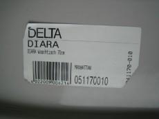 Keramag Delta Diara Waschtisch Waschbecken 70 x 55 cm in Manhattan-Grau