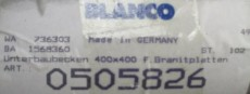 BLANCO 505826 Unterbau-Becken / Spüle Edelstahl 40x40x18 cm