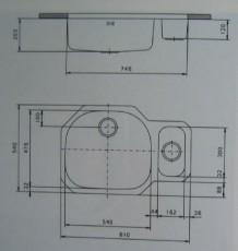 suter kwc d3u edelstahl doppelbecken unterbau sp le 81x54x20 cm spuelen. Black Bedroom Furniture Sets. Home Design Ideas