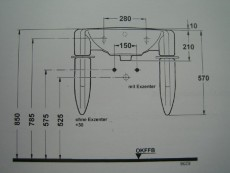 IDEAL STANDARD Waschbecken Waschtisch Bajade MANHATTAN-GRAU 65 x 52 cm