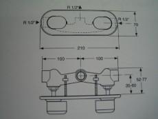 Dualux Unterputz-Armatur Duscharmatur Chrom/Edelmessing
