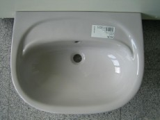 Delta Diara washbasin 70 x 55 cm in manhattan-grey