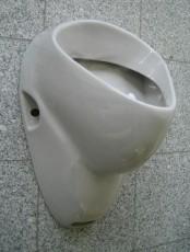 DELTA Urinal Pissoir Pissuar Zulauf von oben Manhattan-Grau