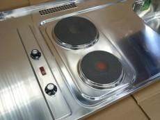 BLANCO Pantry-Spüle 120x60 cm Edelstahl mit Kochplatten B-R