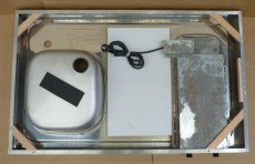 RIEBER Pantry-Spüle 105x65 cm Edelstahl mit Kochplatten B-R