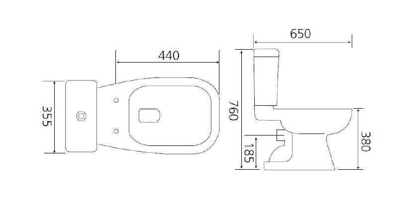 aqva zone plus stand wc kombination sp lkasten weiss. Black Bedroom Furniture Sets. Home Design Ideas
