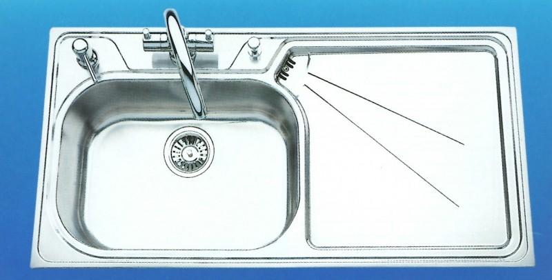 Spülbecken rund edelstahl matt  SUTER Silver Steel SSL100 Spüle 100x50 cm EDELSTAHL-MATT B-L ...