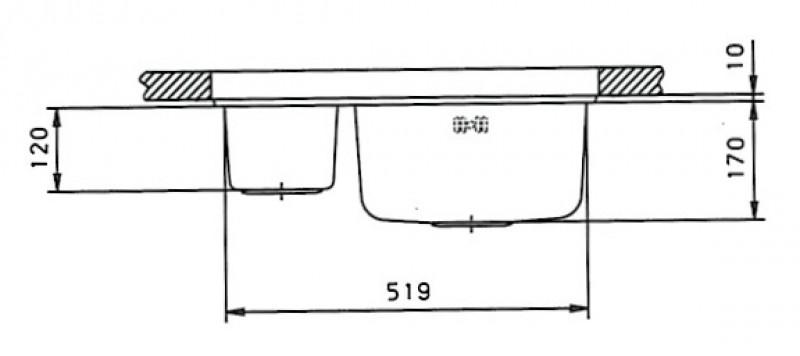 suter comfort c58u edelstahl doppelbecken unterbau sp le 60x50cm spuelen. Black Bedroom Furniture Sets. Home Design Ideas