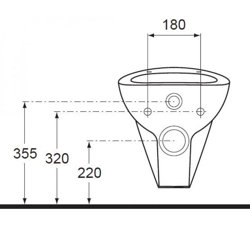 ideal standard avance h nge wand wc manhattan grau spuelen. Black Bedroom Furniture Sets. Home Design Ideas