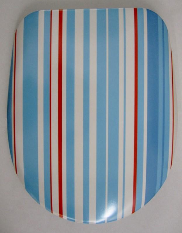 hamberger toilettenbrille wc deckel wc sitz blau gestreift spuelen. Black Bedroom Furniture Sets. Home Design Ideas