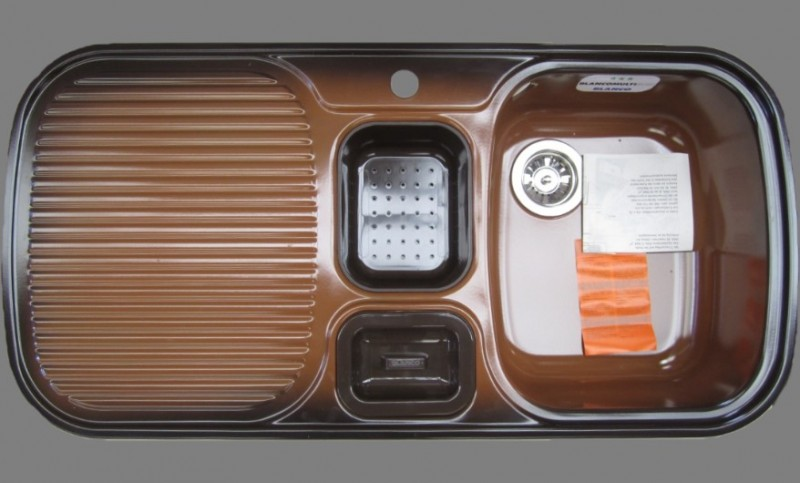 blanco multi box sp le becken rechts 99 5x49 cm brazil braun spuelen. Black Bedroom Furniture Sets. Home Design Ideas