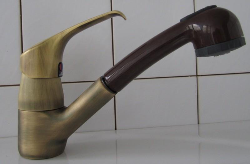IDEAL STANDARD CeraMix Küchenarmatur Bronze Braun Niederdruck mit ...