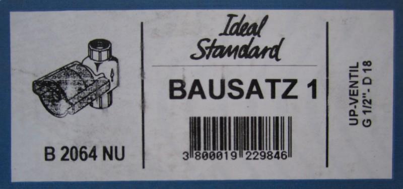 bausatz 1 ideal standard unterputz ventil armatur b2064nu spuelen. Black Bedroom Furniture Sets. Home Design Ideas