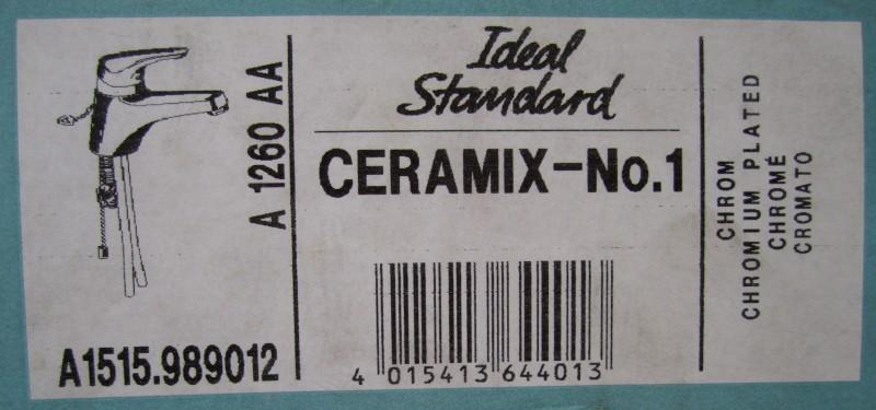 ideal standard ceramix no 1 waschbecken armatur chrom. Black Bedroom Furniture Sets. Home Design Ideas