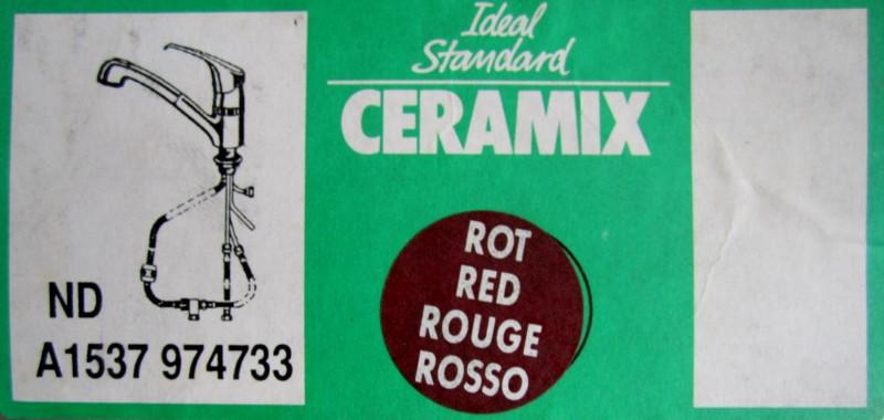 ideal standard ceramix k chenarmatur niederdruck rot mit. Black Bedroom Furniture Sets. Home Design Ideas