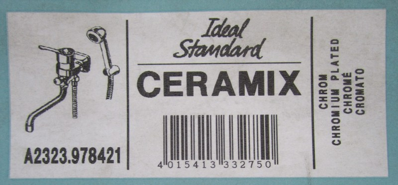ideal standard ceramix bad wand armatur ost anschl sse chrom. Black Bedroom Furniture Sets. Home Design Ideas