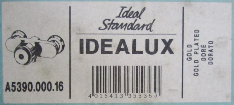ideal standard idealux thermostat duscharmatur gold. Black Bedroom Furniture Sets. Home Design Ideas