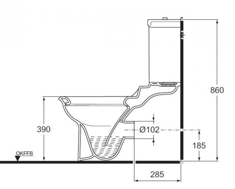 ideal standard tizio kombination stand wc mit sp lkasten tiefsp ler bahama beige spuelen. Black Bedroom Furniture Sets. Home Design Ideas