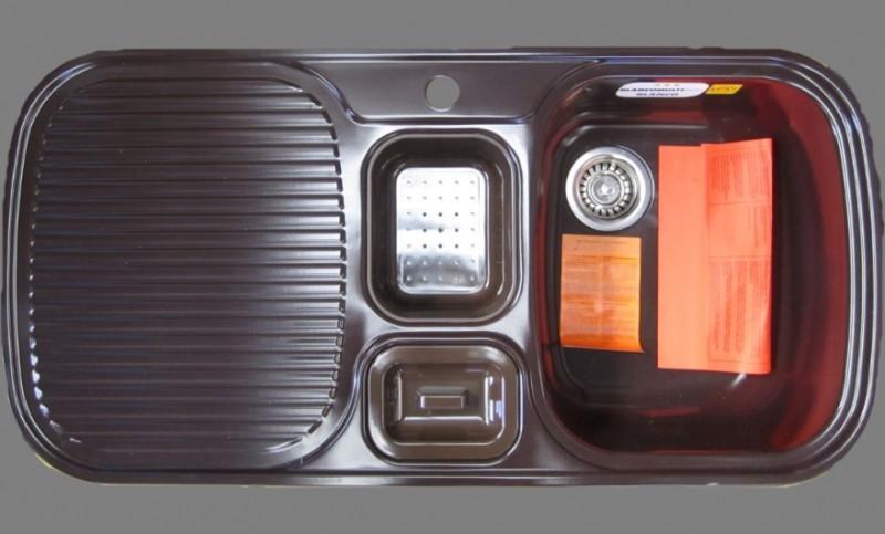 blanco multi box sp le mocca becken rechts 99 5x49 cm spuelen. Black Bedroom Furniture Sets. Home Design Ideas