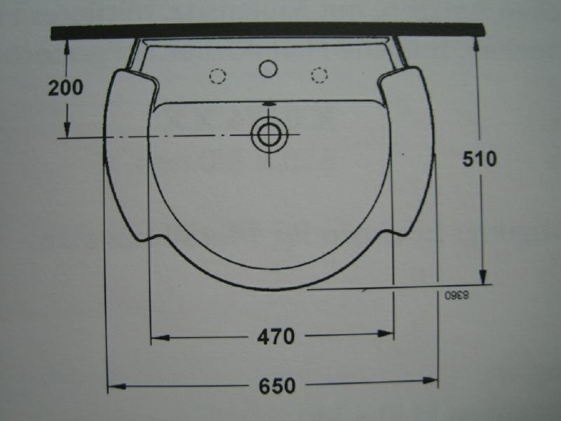 IDEAL STANDARD Castelli Waschbecken  Waschtisch PERGAMON