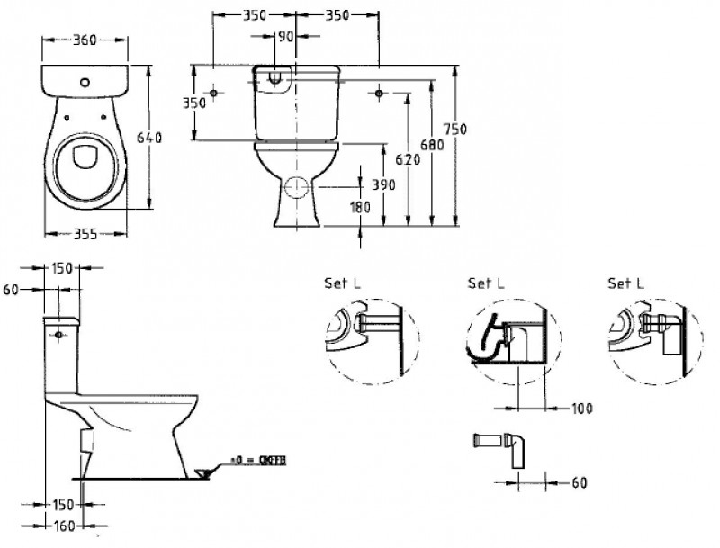 keramag renova nr 1 stand wc kombination edelweiss. Black Bedroom Furniture Sets. Home Design Ideas