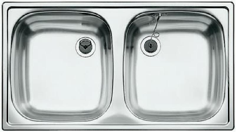 blanco top ed 8x4 doppelbecken sp le edelstahl 78x43 5 cm spuelen. Black Bedroom Furniture Sets. Home Design Ideas