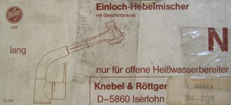 Frisch KURI Küchenarmatur Armatur Spültischarmatur mit Brause Niederdruck  WS65