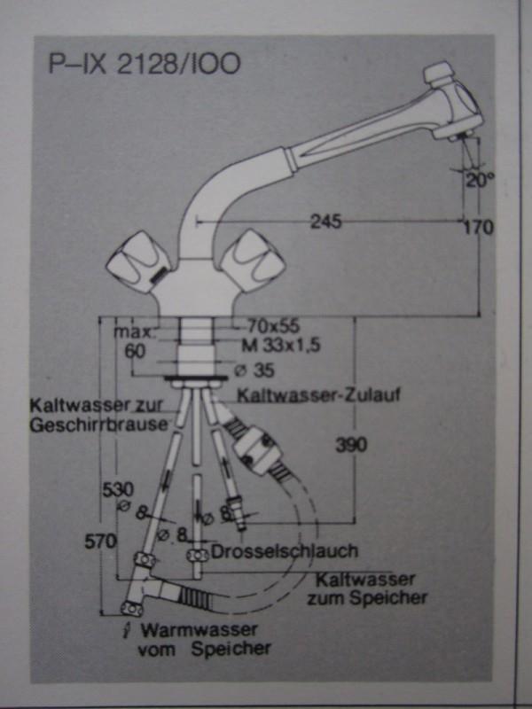 Interessant KURI Küchenarmatur Armatur Spültischarmatur Niederdruck mit Brause  JV55