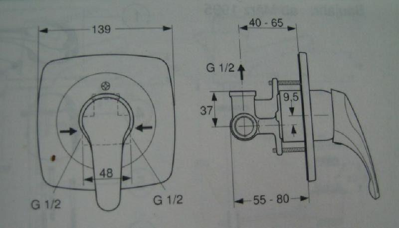 ideal standard ceradisc unterputz brause armatur bausatz 2 chrom spuelen. Black Bedroom Furniture Sets. Home Design Ideas