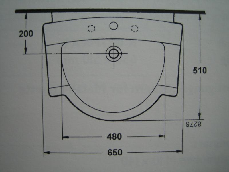 IDEAL STANDARD Aramis Waschbecken  Waschtisch PERGAMON 65