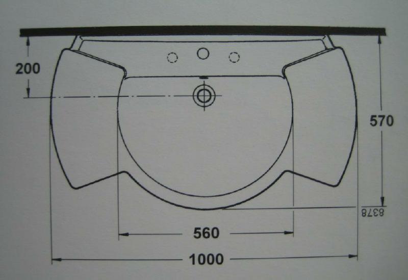 ideal standard castelli waschbecken waschtisch pergamon. Black Bedroom Furniture Sets. Home Design Ideas
