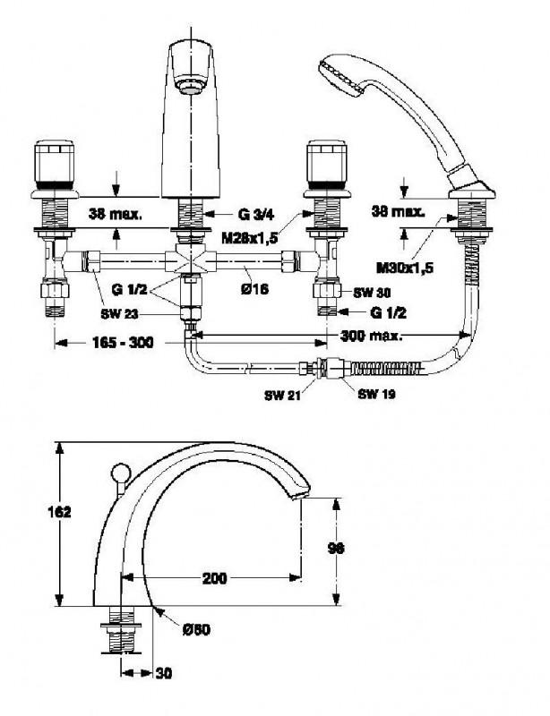 ideal standard ceraron bade 4 loch armatur weiss edelmessing spuelen. Black Bedroom Furniture Sets. Home Design Ideas
