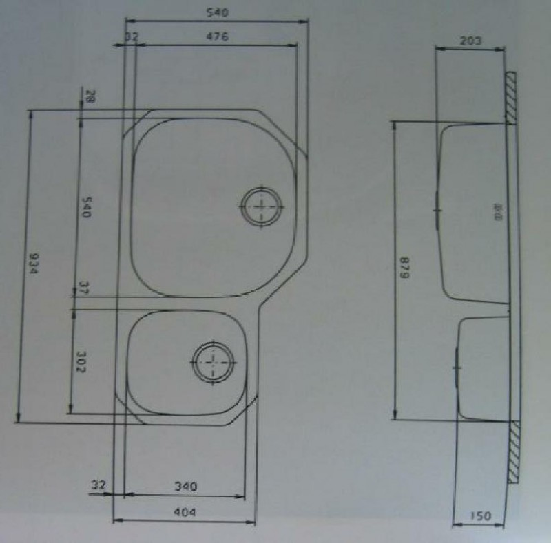 suter d4u edelstahl doppelbecken unterbau sp le 93x54x20 cm spuelen. Black Bedroom Furniture Sets. Home Design Ideas