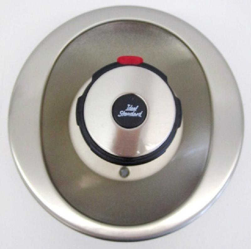 bausatz 2 idealux oberteile zentralthermostat unterputz satin spuelen. Black Bedroom Furniture Sets. Home Design Ideas