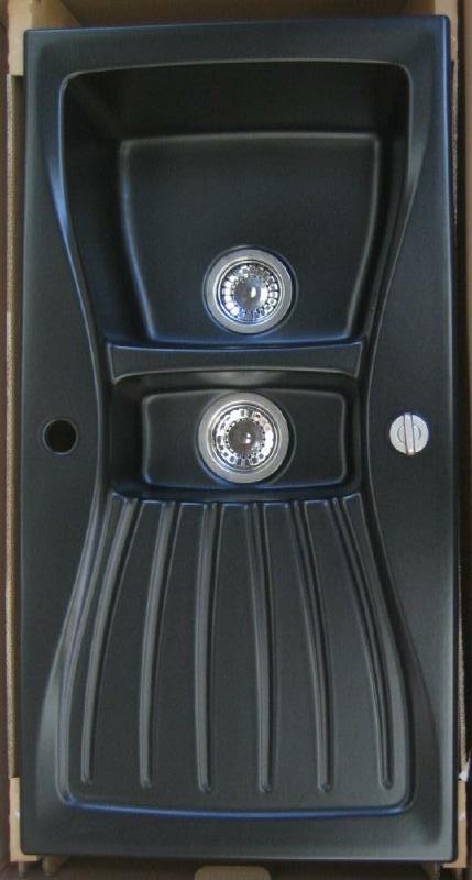villeroy boch keramik sp le schwarz 98x51 cm spuelen. Black Bedroom Furniture Sets. Home Design Ideas
