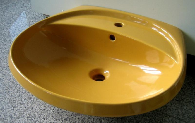 ideal standard waschbecken waschtisch 60 51 5 cm currygelb. Black Bedroom Furniture Sets. Home Design Ideas