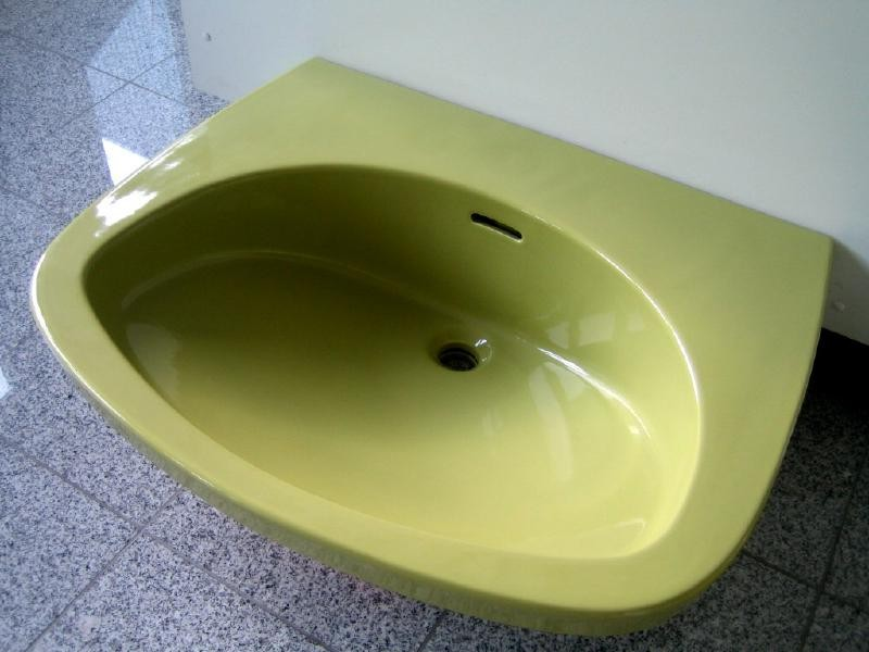ideal standard waschtisch waschbecken 71x57 cm moosgr n spuelen. Black Bedroom Furniture Sets. Home Design Ideas